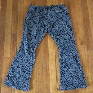 Sundry cheetah print lounge pants size 1
